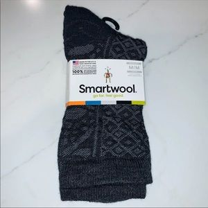 SmartWool Charcoal 'Lily Pond Pointelle Crew' Sock